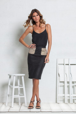 PENCIL SKIRT WITH CARGO POCKETS